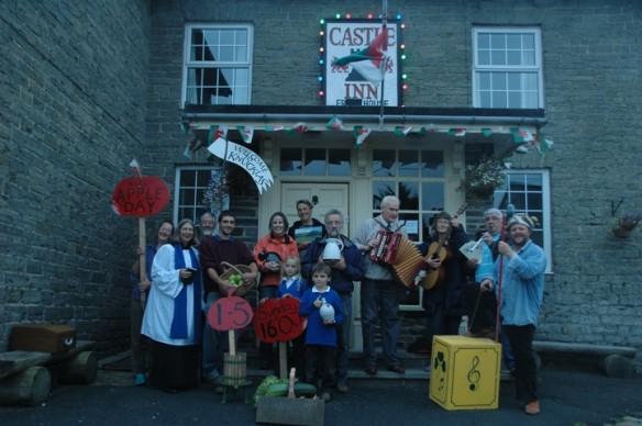 Group photo for Powys Arts Month events in Knucklas