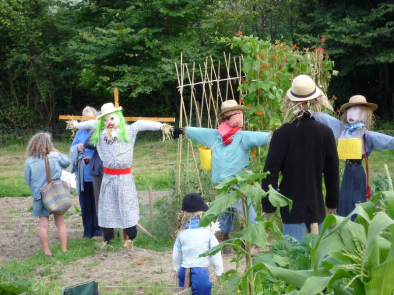 Allotment scarecrows
